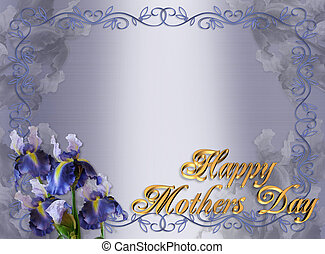 Mothers Day Border Iris Floral - Image and illustration...