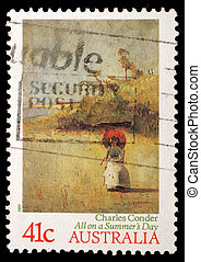 AUSTRALIA - CIRCA 1989: A stamp printed in AUSTRALIA shows...