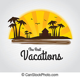 the best vacations over gray background vector illustration