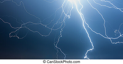 Thunderstorm at Night - Dramatic Flashes of a Thunderstorm...
