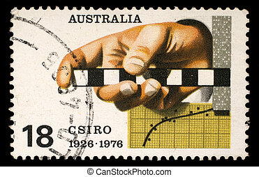 AUSTRALIA - CIRCA 1976: A Stamp printed in AUSTRALIA shows...