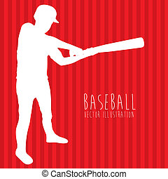 baseball league over red background vector illustration