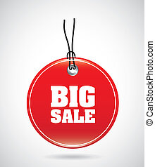 big sale design over gray background vector illustration