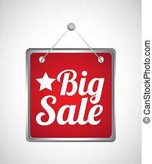 big sale label over gray background vector illustration