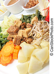 eastern cuisine named gado-gado from indonesia