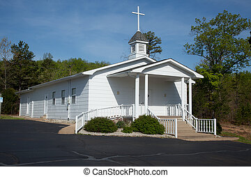 Country church - A white country church
