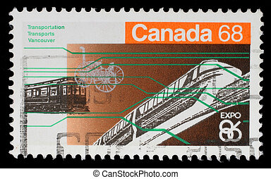 CANADA - CIRCA 1986: A stamp printed in Canada from the...