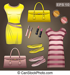 Fashion set. vector, gradient, EPS 10