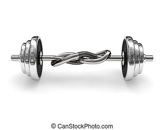 Knotted weight barbell (power concept) - Knotted weight...