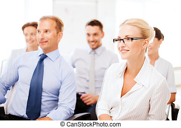businessmen and businesswomen on conference - business...