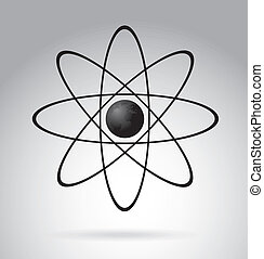 atom design over gray background vector illustration
