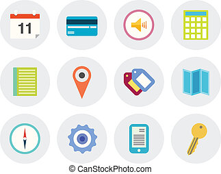 Modern vector icons set - Vector collection of modern icons...