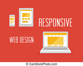 Responsive web design concept - Vector illustration of...