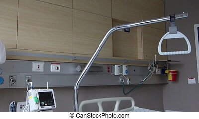 Hospital room - Patient room with medical equipment in a...