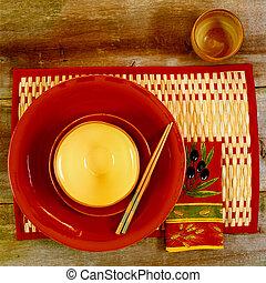 Oriental Food Dish