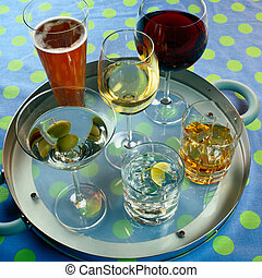 Tray of Alcoholic Beverages - Picture of Tray of Alcoholic...