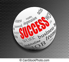 success business abstract motivation ball sphere vector...