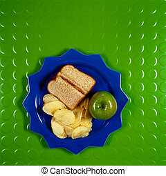 Deli Sandwich with Chips and Apple - Picture of Deli...