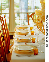 Place Settings on a Dining Table - Picture of Place Settings...