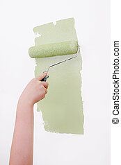 home improvement paint - green paint and paint supplies...