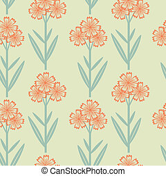 Floral pattern - Seamless floral pattern with red flowers