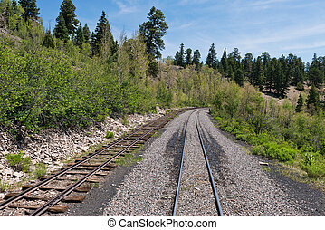 Narrow gauge railroad tracks, Sublette, Colorado
