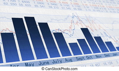 Stock market trend of animation_04 - Animation of the stock...