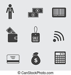 business icons over gray background vector illustration