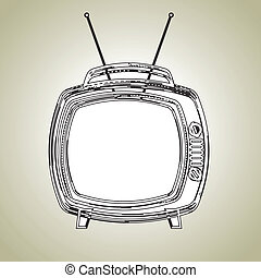 classic television over beige background vector illustration