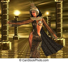 Deeply Desired - An Egyptian sovereign uses her alluring...