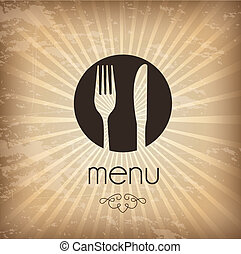 Menu icons over vintage background vector illustration