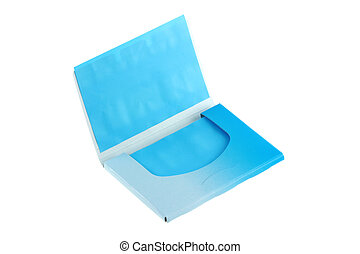 Blue Oil absorbing (blotting) sheets to remove excess oil on...