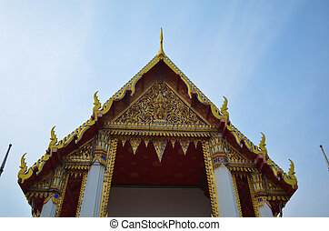 Roof of temple Wat Pho Bangkok Thailand