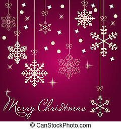 Christmas card with snowflakes vector illustration