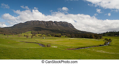 Mt Roland in Spring - Central Tasmania near Mt Roland,...