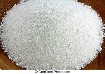 Natural and unpolluted crystal salt - A bowl of natural and...