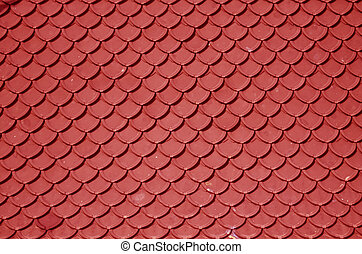 red roof - close up of red roof texture tile