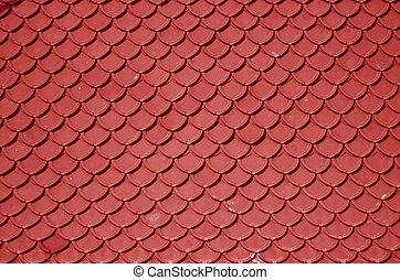 vermelho, telhado