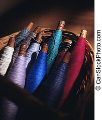 Spindles of thread - Picture of Spindles of thread