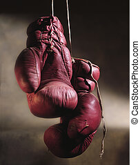Hanging boxing gloves - Picture of Hanging boxing gloves