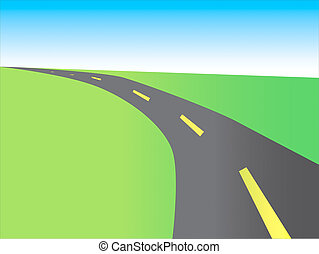 illustration of highway