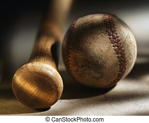 Bat and baseball - Picture of Bat and baseball
