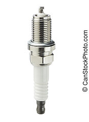 Spark Plug On White Background