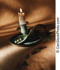 Candlestick holder and candle