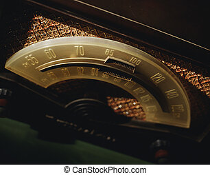 Dial of an old radio - Picture of Dial of an old radio