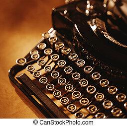 Um, manual, Máquina escrever