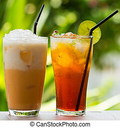 ice tea  - Ice Tea / thai ice tea with milk and non milk