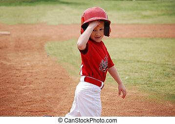 Little league ball player