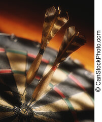 Darts in a dartboard - Picture of Darts in a dartboard