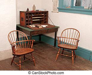 antique room setup